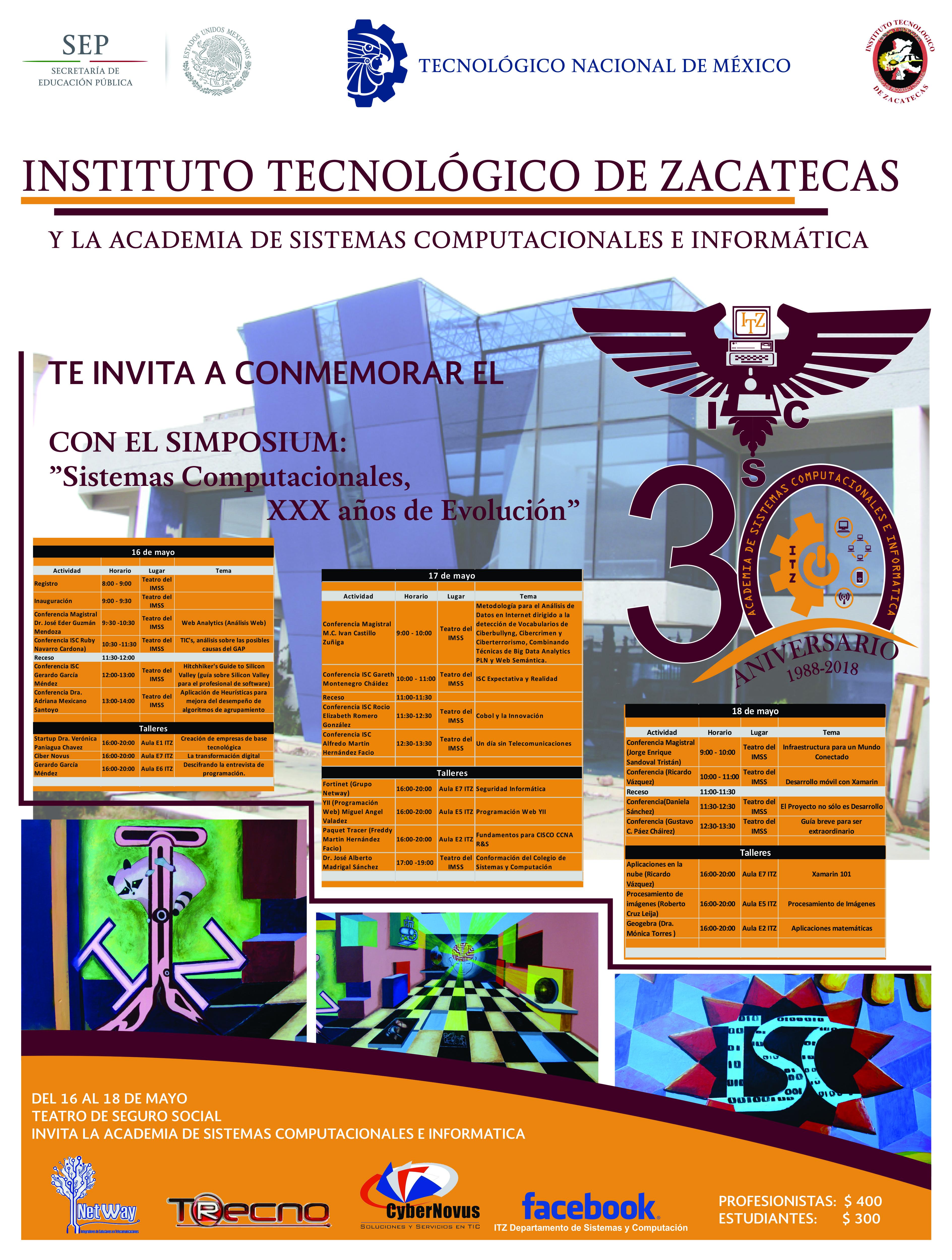 30 Aniversario Sistemas Computacionales e Informática.