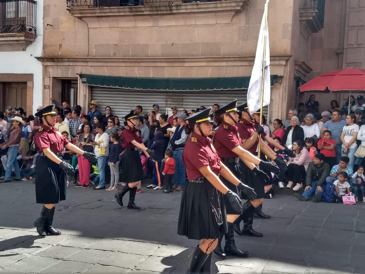 El TecNM campus Instituto Tecnológico de Zacatecas, presente en el Desfile Cívico Militar