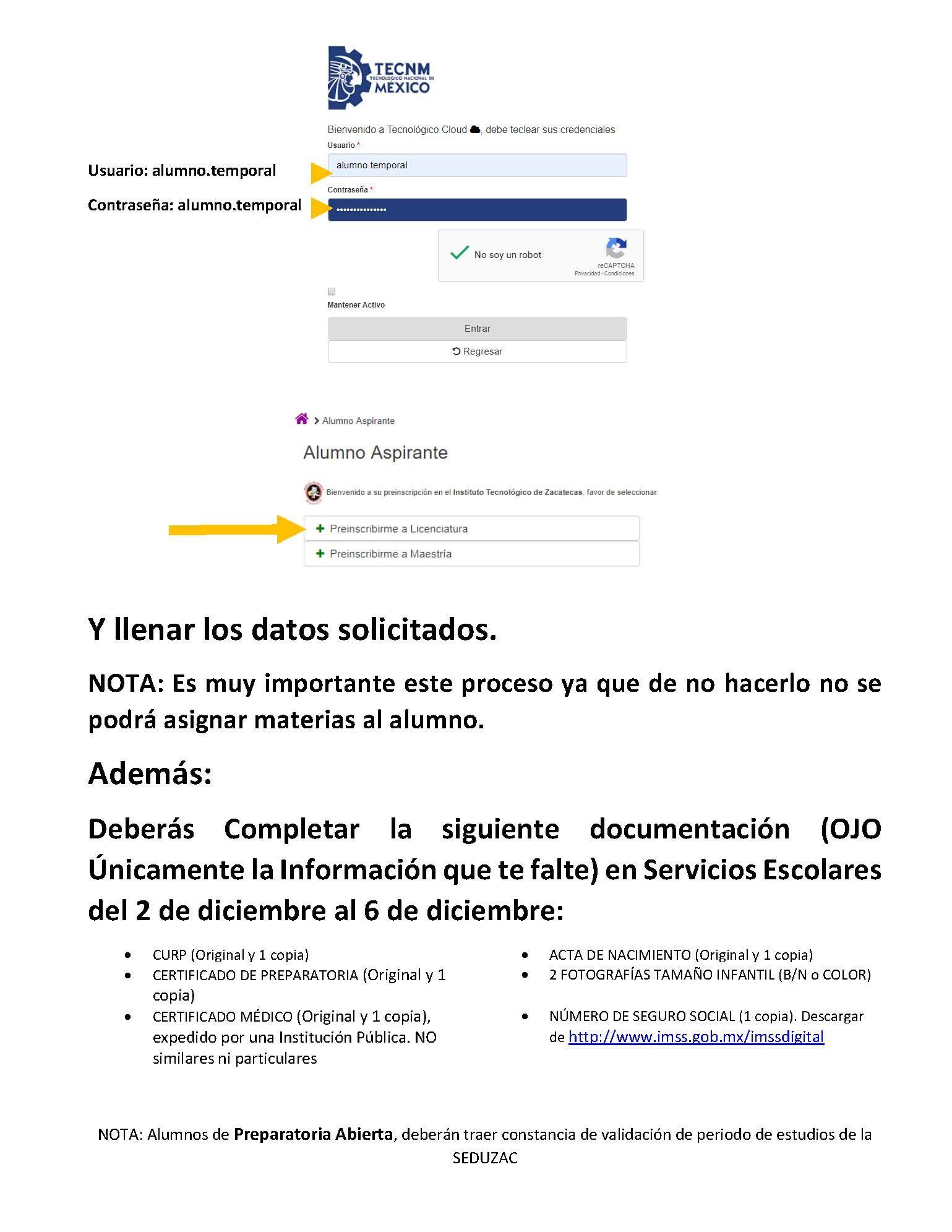 ASPIRANTES ACEPTADOS DEL SEMESTRE CERO DE ARQUITECTURA AL PERIODO ENE-JUN 2020